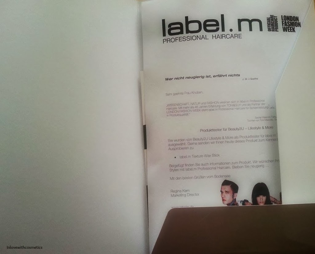 label m texture wax stick