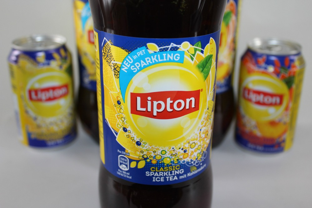 Lipton Sparkling Classic and Peach